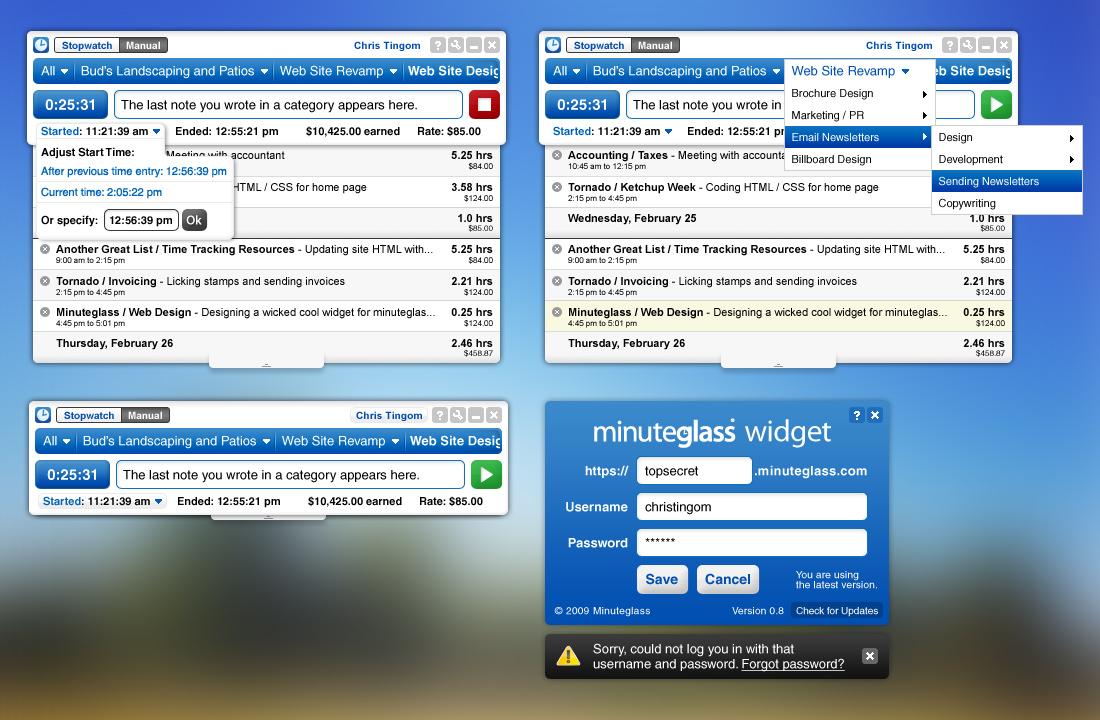 minuteglass-widget