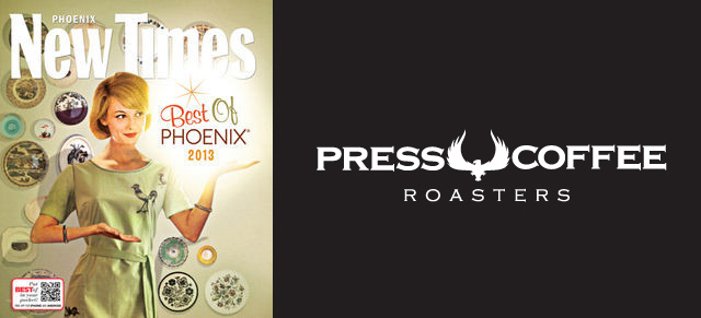 Our client Press Coffee Roasters is named Best Coffee House in Scottsdale by Phoenix New Times